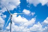 Wind-turbine-stromerzeugung — Stockfoto