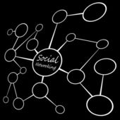 Social Media Networking Chart — Stock Photo