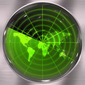 Green World Radar — Stock Photo