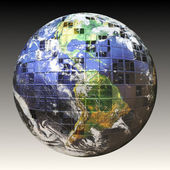 3D Wire Frame Earth — Stock Photo