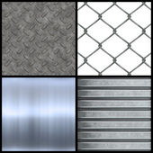 Metal Textures Collection — Stock Photo