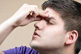 Teen With a Headache — Stock Photo