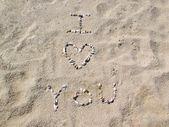 Spiaggia ti amo — Foto Stock
