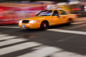 Abstracte nyc taxi — Stockfoto