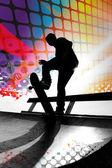 Abstract Skateboarder — Stock Photo