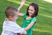 Little Kids Fighting — Stock Photo