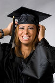 Happy Graduate Laughing — Stock Photo