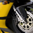 Yellow Motorcycle — Stock Photo