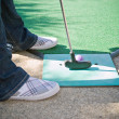 Stock Photo: Mini Golfer