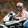 Stock Photo: Blonde Biker Girl