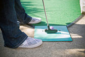 Mini Golfer — Stock Photo