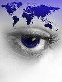 Occhio del mondo — Foto Stock