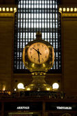 Grand Central Clock — Stock Photo