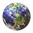 Global Network of - Stock Photo