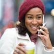 Woman On Her Cell Phone — Stock Photo