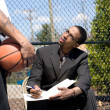 Basketball Coaching — Stock Photo