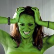 Green Alien Woman — Stock Photo
