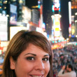 Stock Photo: Woman In Times Square NYC