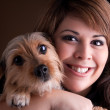 Woman and Her Pet Dog — Stock Photo #8784585
