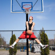 Royalty-Free Stock Photo: Man Playing Basketball