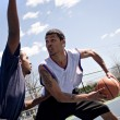 Stock Photo: Basketball One On One
