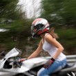 Blonde Biker Girl — Stock Photo #8787604