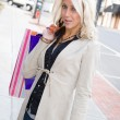 Pretty Blonde Shopper — Stock Photo