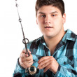 Stock Photo: Teenager Fishing