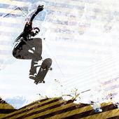 Skateboarding Grunge Layout — Stock Photo