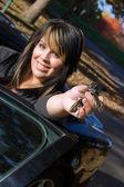 Happy Woman Driver — Stock Photo