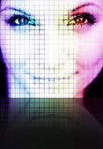Digital Woman — Stock Photo