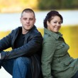 Happy Couple Outdoors — Stock fotografie #8803194