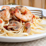 Shrimp Pasta Dish — Stock Photo #8803666