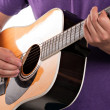 Electric Acoustic Guitarist — Stock Photo