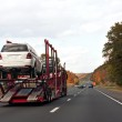 Truck Transporting Cars — Stock Photo #8803851