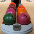 Stock Photo: Colorful Bowling Balls