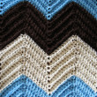 Knitted Afghan Pattern — Stock Photo