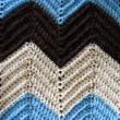 Stock Photo: Knitted Afghan Pattern