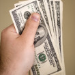 Handful of Money — Stockfoto