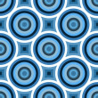 Stock Photo: Funky Blue Circles Pattern