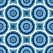 Stockfoto: Funky Blue Circles Pattern