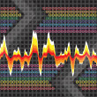 Stock Photo: Graphic Audio Waveform