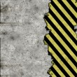 Stock Photo: Hazard stripes torn wall