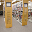Public Library Aisles — Stock Photo