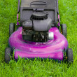 Pink Lawn Mower — Stock Photo