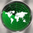 Stock Photo: World Radar Screen