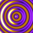 Golden Hypnotic Circles — Stock Photo