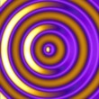 Golden Hypnotic Circles - Stock Photo