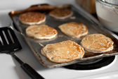 Apple Pancakes Cooking — Stock Photo