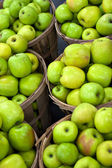 Green Apples In Bushels — Stock Photo